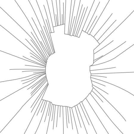 radial cracks: Radial cracks on broken glass. Vector illustration.