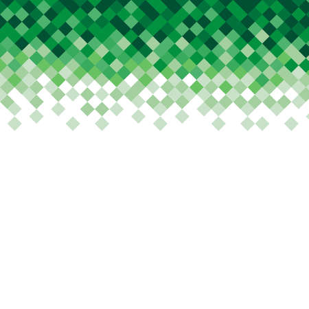 crushed: Abstract triangle mosaic green background design element. Vector illustration.