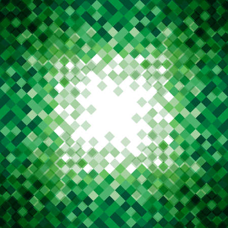 Abstract green triangle mosaic background design element. Vector illustration. Vector