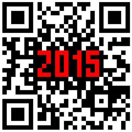 scaler: 2015 New Year counter, QR code vector. Illustration
