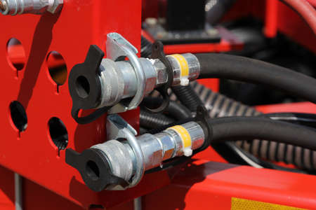 machinery: Hydraulic connectors. Agricultural machinery