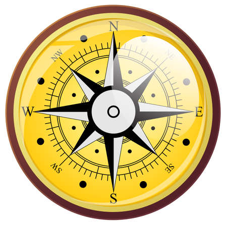 the wind rose: Wind rose compass flat symbols. Vector illustration.