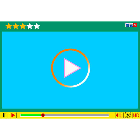 adjuster: Video movie media player interface. Vector  illustrations.
