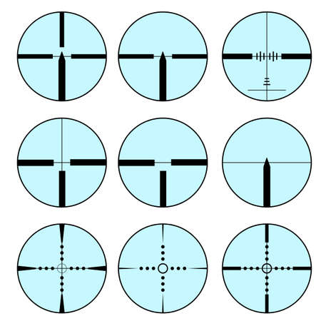 cross hair: Cross hair and target set. Vector� illustration. Illustration
