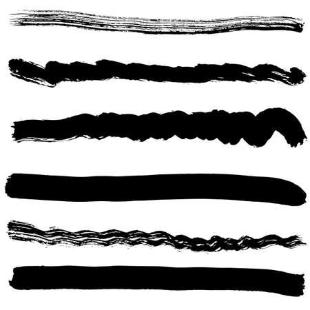 blot: Brush blot vector on white background. Vector illustration.