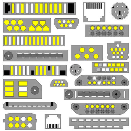 dvi: Vector video, audio and telephone connectors