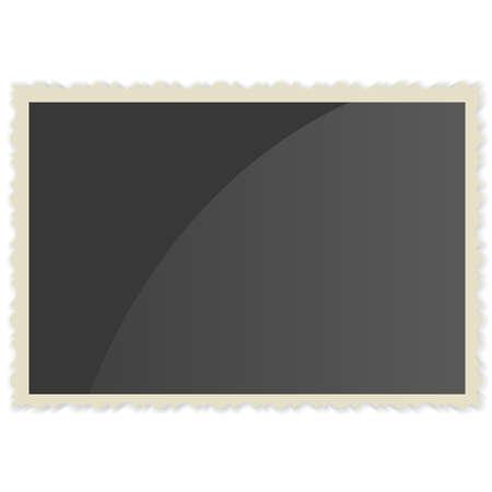 photoalbum: Retro Photo Frame   On White Background. Vector illustration Illustration