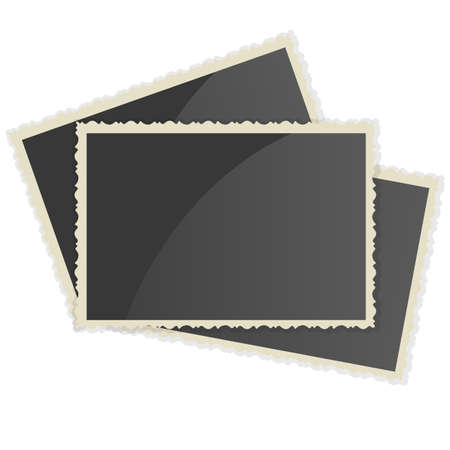 vintage texture: Retro Photo Frame   On White Background. Vector illustration Illustration