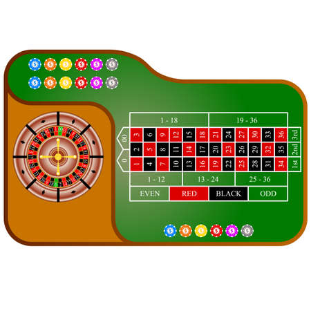 Tables, American  Roulette. Vector illustration. Vector