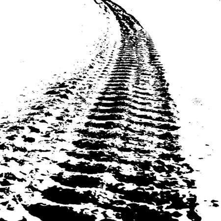 Grunge achtergrond met zwarte band track. Vector illustratie.