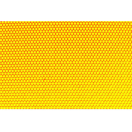 holed: Metal holed grid background yellow hole. Vector illustration. Illustration