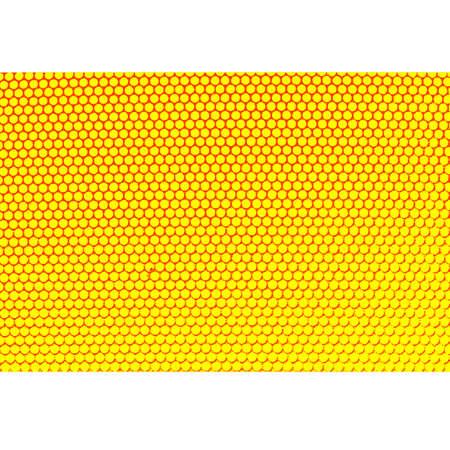 Metal holed grid background yellow hole. Vector illustration. Illustration