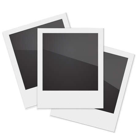 Stel Retro Photo Frame op een witte achtergrond. Vector illustratie