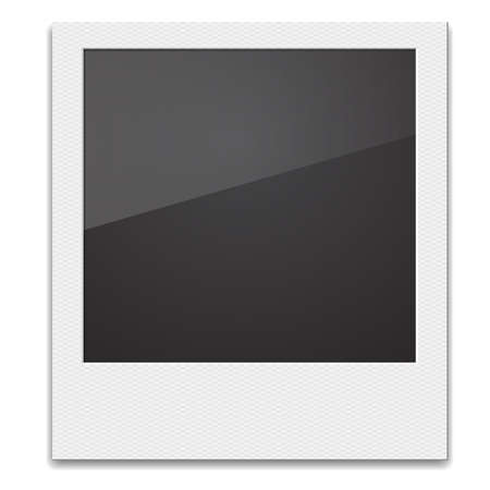 white picture frame: Retro Photo Frame  On White Background. Vector illustration
