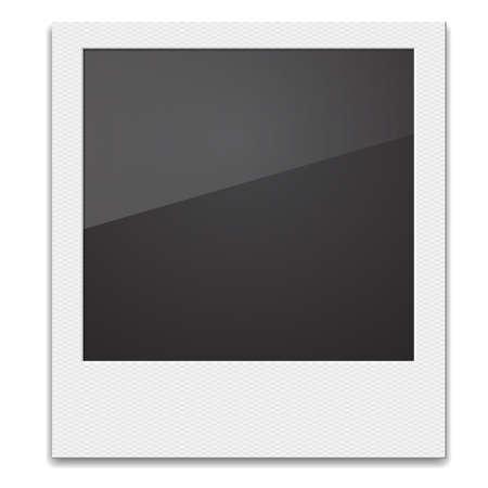 poloroid: Retro Photo Frame  On White Background. Vector illustration