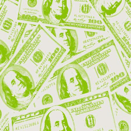 millones: Concepto financiero de las ganancias, d�lares americanos, de fondo. Ilustraci�n del vector. Vectores