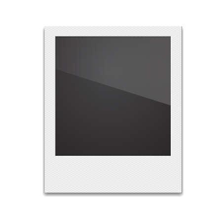 photoalbum: Retro Photo Frame  On White Background. Vector illustration