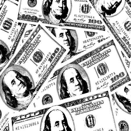 millions: Financial concept of earnings, American dollars, background. Vector illustration. Illustration