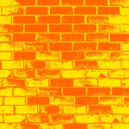 Red Brick wall of the house, with lines of a laying of a solution. Vector illustration.