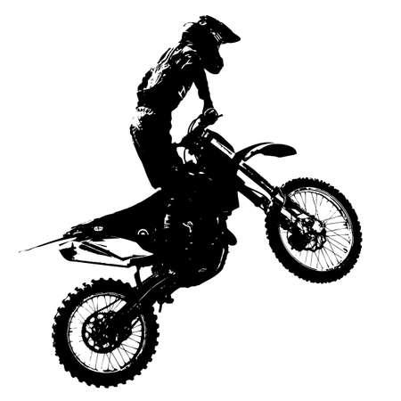 Rider partecipa motocross campionato. Illustrazione vettoriale. Archivio Fotografico - 39162339