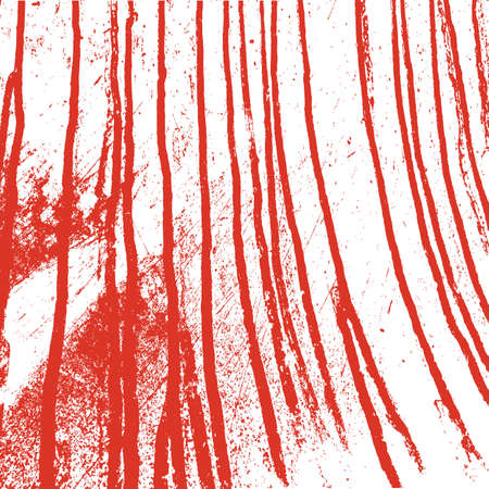 Texture  white  wall with bloody red stains. Vector illustration. Vector