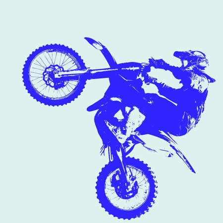 motocross riders: Rider participates motocross championship.  Vector illustration.