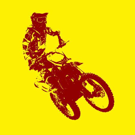 freeride: Jinete participa campeonato de motocross. Ilustraci�n del vector. Vectores