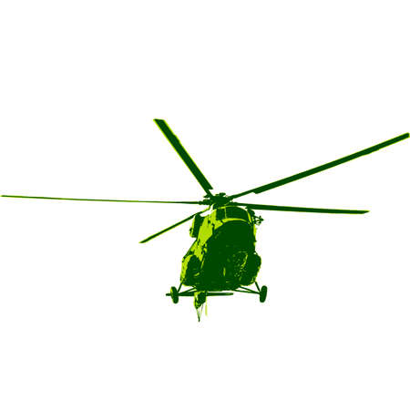 fuselage: Russian army helicopter. Vector illustration.