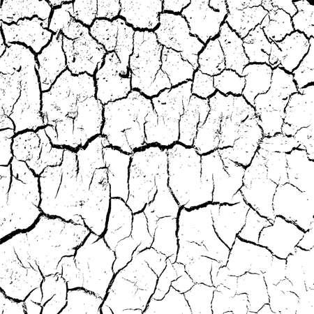 suelo arenoso: agrietada tierra arcillosa en la estación seca. Ilustración del vector.