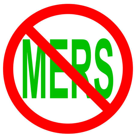 outbreak: Stop Mers Corona Virus sign.  Vector Illustration.