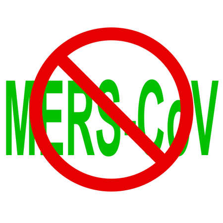 corona: Stop Mers Corona Virus sign.  Vector Illustration.