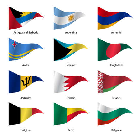 701 Antigua And Barbuda National Flag Stock Illustrations ...