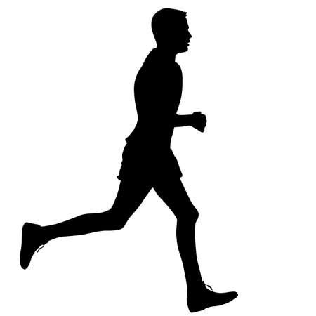 Sagome Corridori sul sprint, uomini. illustrazione vettoriale.