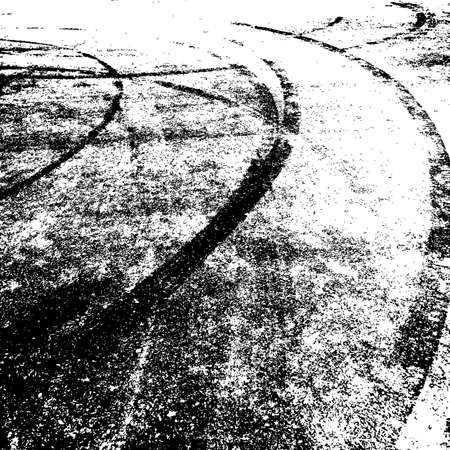 skidding: Background with traces of tires. Vector illustration. Illustration