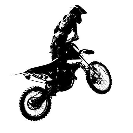 motocross riders: Rider participates motocross championship a Vector illustration.