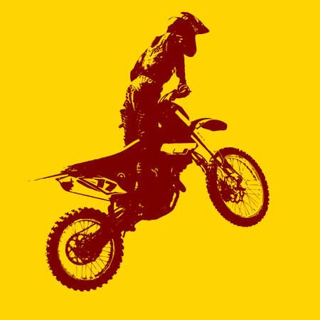motocross riders: The Rider participates motocross championship.  Vector illustration.