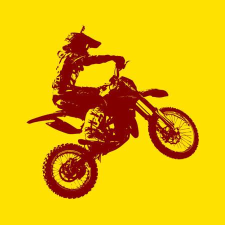 freeride: The Rider participates motocross championship.  Vector illustration.