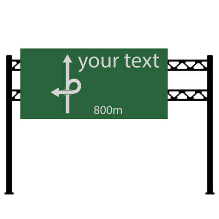 blank road sign: Blank road sign on the road.  Vector illustration.