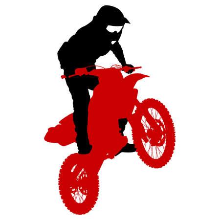 freeride: Rider participates motocross championship.  Vector illustration.