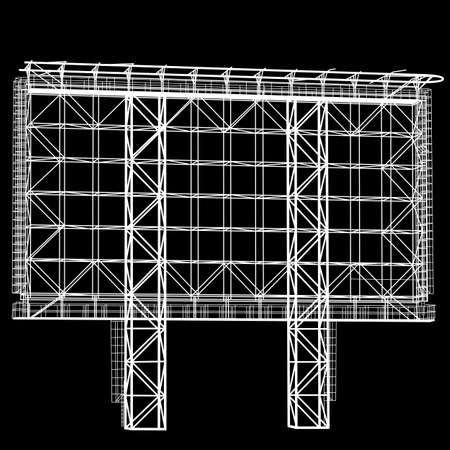 steel structure: Silhouette of Steel structure billboard. Vector  illustration. Illustration