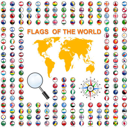 banderas del mundo: Fije los indicadores de estados soberanos del mundo.