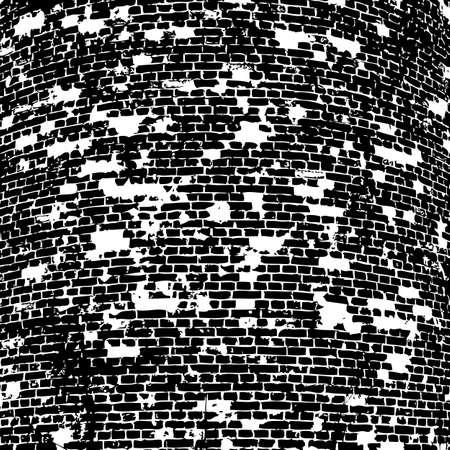 Bakstenen muur van het huis, met lijnen van een leggen van een oplossing. Vector illustratie.