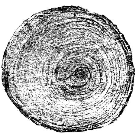tree rings: Tree rings saw cut tree trunk background. Vector illustration.