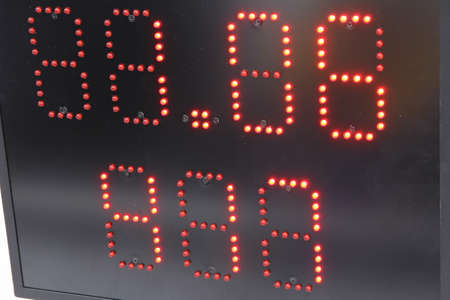 alphanumeric: Electronic display for information in sports black.
