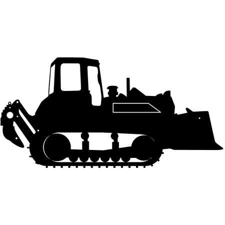 heavy duty: Silhouette of a heavy loaders with a ladle. Vector illustration. Illustration