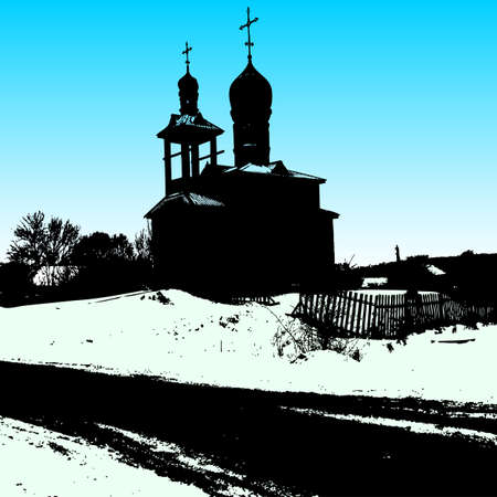 old church: Silhouette of the old church. Vector illustration. Illustration