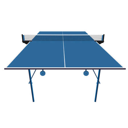 pong: Ping pong blue table tennis. Vector illustration. Illustration