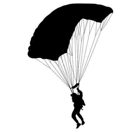 airplay: The Skydiver silhouettes parachuting a illustration Illustration