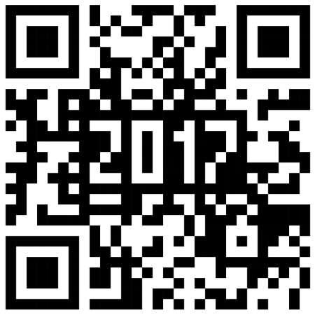 2017 New Year counter monochrome QR code.