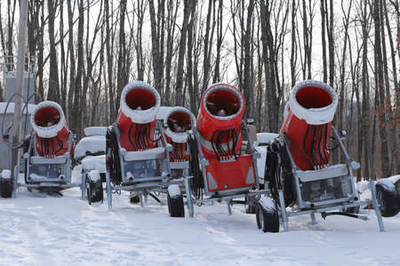 snow grooming machine: Snowmaking is the production of snow on ski slopes.